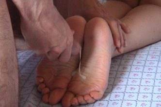 I cum on my ex girlfriend's feet soles